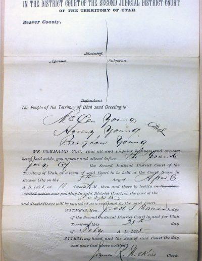 Young et al., subpoena—2-25-1875